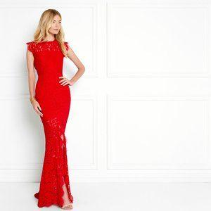 Rachel Zoe Estelle Lace Gown - Red NWT